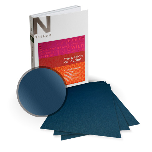 "Neenah Paper Stardream Lapis Lazuli Metallic 8.5"" x 14"" Card Stock - 8 Sheets (NSDCLL461-D) Image 1"