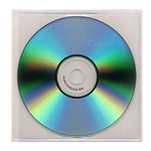 "5"" x 5"" Clear Vinyl Adhesive Back CD Holders - 100pk (STB-2011) Image 1"