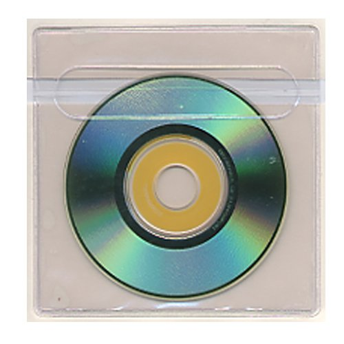 "4"" x 4"" Adhesive Back Holders for Mini CDs - 100pk (STB-2012-CD) Image 1"