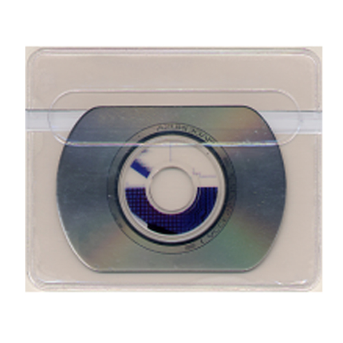 "4"" x 3-1/4"" Adhesive Back Business Card CD Holders - 100pk (STB-3098-CD) Image 1"