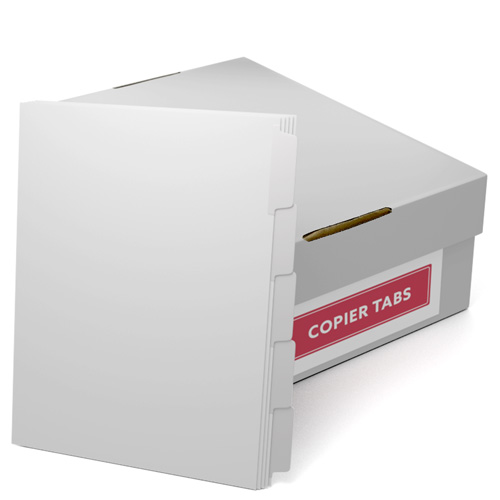 White Straight Collated 1/5th Cut 90lb Mylar Coated Copier Tabs (XT5RC) - $132.39 Image 1
