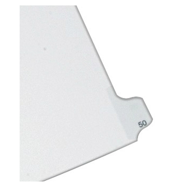 Avery 50 Individual Number Legal Index Allstate Style Dividers 25pk (AVE-82248) Image 1