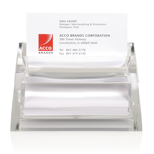 Swingline Stratus Clear Acrylic Business Card Holder - S7010135 (SWI-10135) Image 1