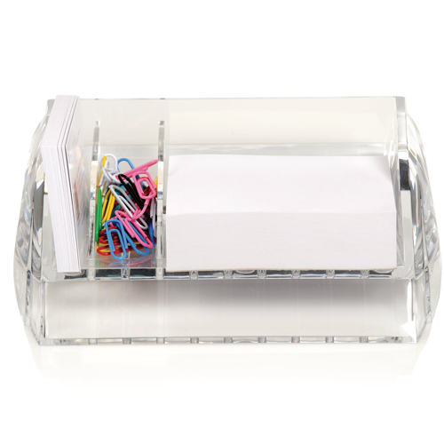 Swingline Stratus Clear Acrylic Memo and Paper Clip Holder - S7010136 (SWI-10136) Image 1