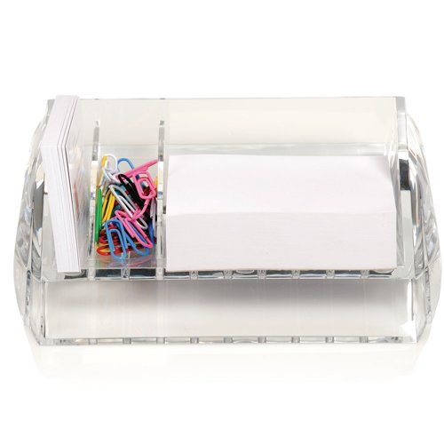 Swingline Stratus Clear Acrylic Memo and Paper Clip Holder - S7010136 (SWI-10136), Work from Home Products Image 1