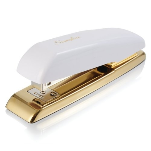 Swingline Durable 20-Sheet White/Gold Desk Stapler (SWI-64701) Image 1