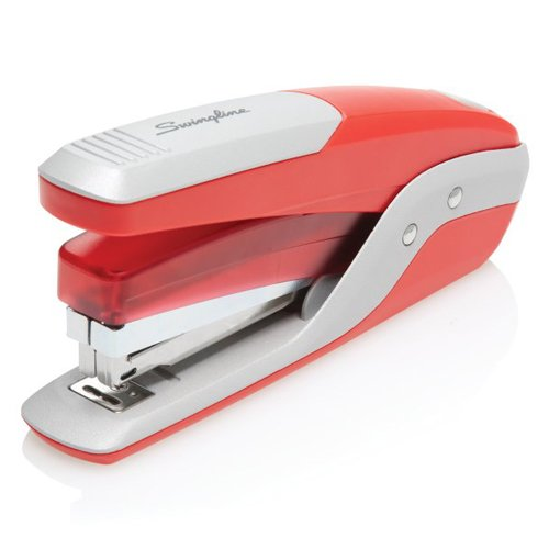 Swingline Red/Silver Quick Touch 28-Sheet Full Strip Metal Stapler (SWI-64589) Image 1