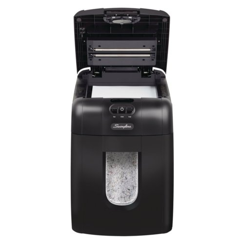 Swingline Stack-and-Shred 130M Auto Feed Level P-5 Micro-Cut Shredder (SWI1758571) - $770.04 Image 1