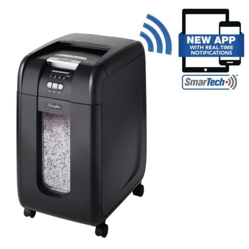 Swingline Stack-and-Shred 300X Auto Feed Cross-Cut Shredder with SmarTech (SWI-1757576) Image 1