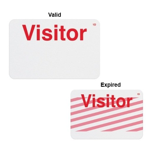 Manual ONEstep TIMEbadge Expiring Badge - Visitor - 500pk (02003) - $204.02 Image 1