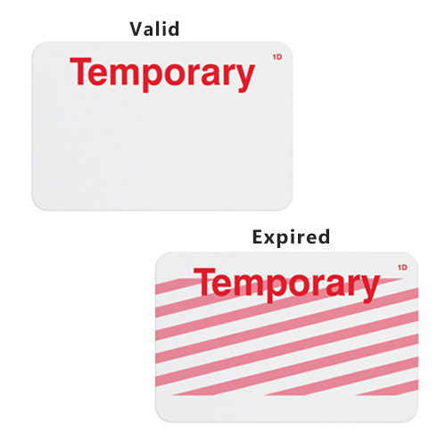 Manual ONEstep TIMEbadge Expiring Badge - Temporary - 500pk (02004) - $204.02 Image 1