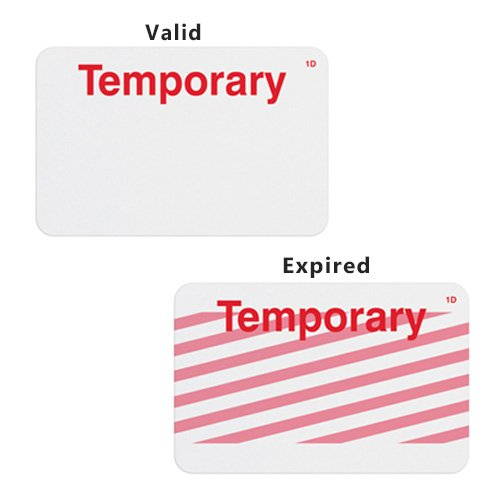 Manual ONEstep TIMEbadge Expiring Badge - Temporary - 500pk (02004) Image 1