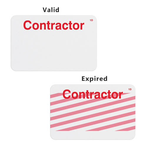Manual ONEstep TIMEbadge Expiring Badge - Contractor - 500pk (02005) - $204.02 Image 1