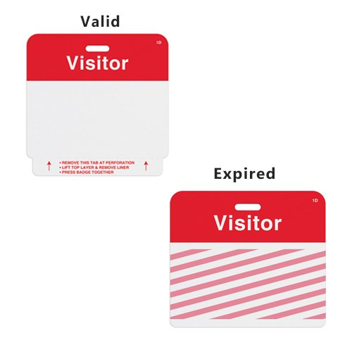Manual ONEstep TIMEbadge Expiring Badge Clip-on - Visitor - 500pk (02014) Image 1