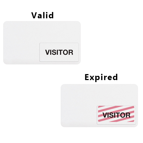 Thermal-Printable Clip-On Expiring TIMEtoken Badge - Blank - 1000pk (04102) Image 1