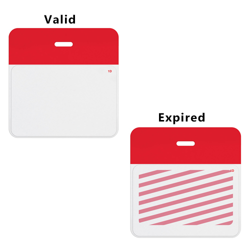 Inkjet-Printable TIMEjet Expiring One Day Badge FRONTpart-Blank-500pk (02015) Image 1