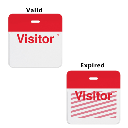 Manual TIMEbadge Expiring One Week Badge FRONTpart - Visitor - 1000pk (06203) Image 1