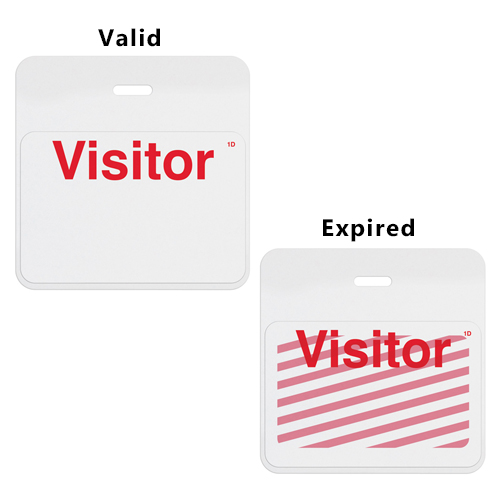 TIMEbadge Clip-On One Week / One Month BACKpart - White Header (MYID06023) Image 1