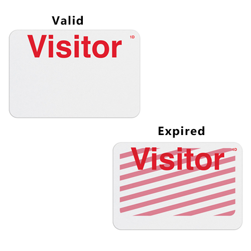 Manual TIMEbadge Expiring One Day Badge FRONTpart - Visitor - 1000pk (06103) Image 1