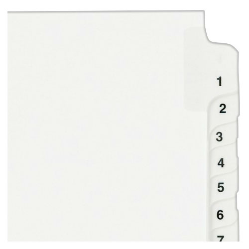 "Avery 1-25 White Legal 11"" x 8.5"" Style Collated Dividers (AVE-01330) - $2.96 Image 1"