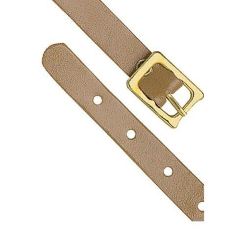 "Tan 4-3/4"" x 5/16"" Genuine Leather Luggage Straps - 25pk (2420-1007) Image 1"