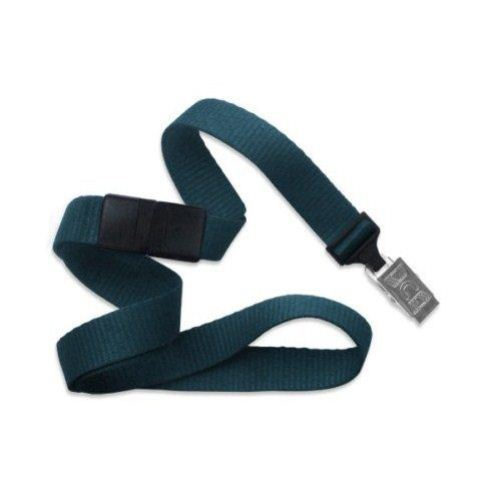 Teal Microweave Break-Away Lanyard with NPS Bulldog Clip - 100pk (MYID21386018), MyBinding brand Image 1