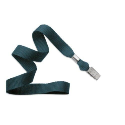 Teal Microweave Lanyard with NPS Bulldog Clip - 100pk (MYID21363566) - $60 Image 1