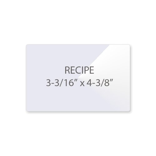 "7MIL Recipe Card 3-3/16"" x 4-3/8"" Laminating Pouches - 100pk (TLP7RECIPE)"