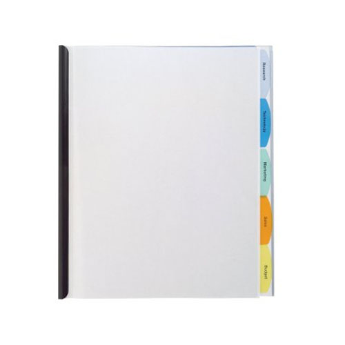 Wilson Jones Clear View-Tab Report Cover with Multicolor Tabs (W55766) Image 1