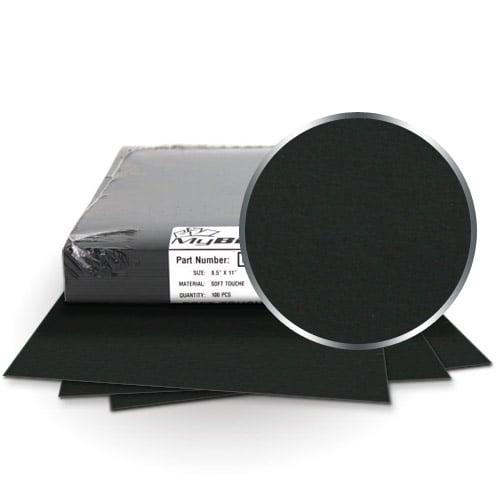"Fibermark Touche Black 11"" x 17"" Soft Touch Covers - 100pk (MYTC11X17BK) - $127.29 Image 1"