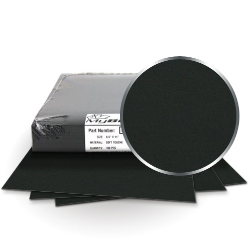 "Fibermark Touche Black 8.5"" x 11"" Soft Touch Covers With Windows (24pt) (FM33049AW24), Fibermark Image 1"