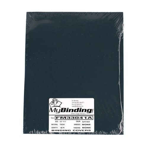 "Fibermark Touche Slate Blue 8.5"" x 11"" Soft Touch Covers - 100pk (FM33041A) Image 1"