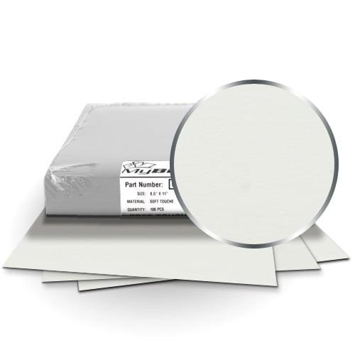 "Fibermark Touche White 5.5"" x 8.5"" Half Letter Soft Touch Covers - 100pk (MYTC5.5X8.5WH) Image 1"