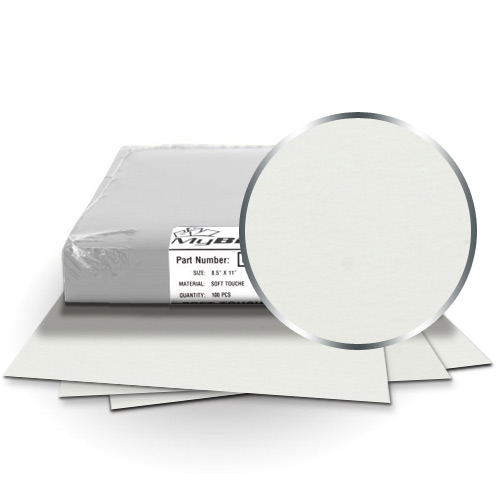 "Fibermark Touche White 9"" x 11"" Soft Touch Covers (24pt) - 25pk (MYTC9X11WH24) Image 1"