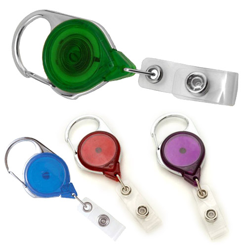 Translucent Carabiner Badge Reel