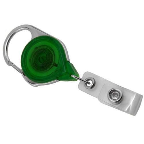 Translucent Green Carabiner Badge Reel - 25pk (MYID704TRGRN) Image 1