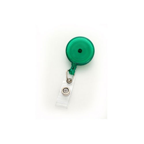 Translucent Green Round Badge Reel with Swivel Clip- 25pk (MYID529TRGRN) - $23.59 Image 1