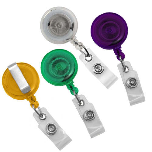 Translucent Round Badge Reel with Slide Clip - 25pk (MYTRBRSLC) - $23.59 Image 1