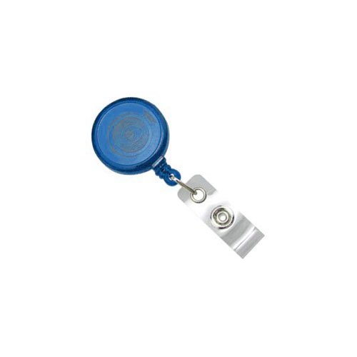 Translucent Royal Blue Max Label Round Badge Reel (MYID905TRRBLU) Image 1