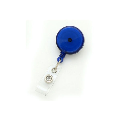 Translucent Royal Blue Max Label Round Badge Reel with Swivel Clip - 25pk (MYID909TRRBLU) - $30.59 Image 1