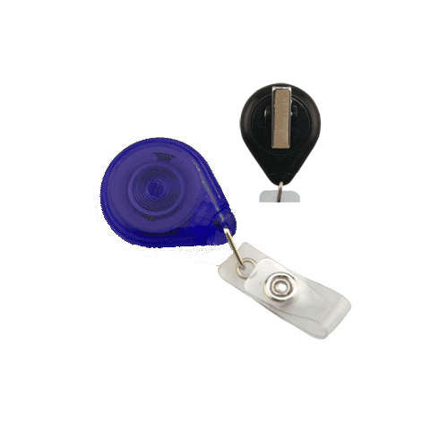 Translucent Royal Blue Premium Twist-Free Badge Reels With Swivel Clip - 25pk (609-TR-RBLU) Image 1