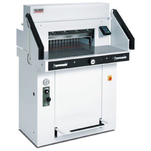 "MBM Triumph 5560 LT 21-5/8"" Programmable Hydraulic Paper Cutter with Air Tables and VRCut Software (CU0497) Image 1"