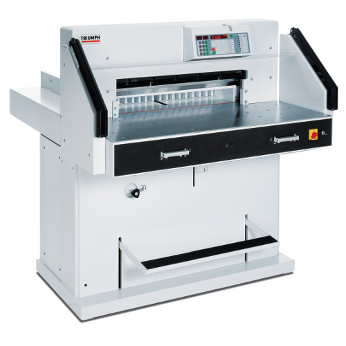"MBM Triumph 7260 28"" Automatic Programmable Hydraulic Paper Cutter with VRCut Software (CU0494) - $26199 Image 1"