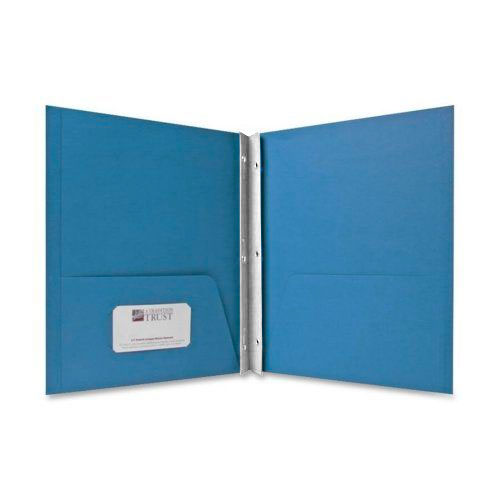 Sparco Light Blue Two Pocket Report Cover With Fasteners - 25pk (SPR71442) Image 1