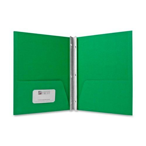 Sparco Green Two Pocket Report Cover With Fasteners - 25pk (SPR71444) Image 1