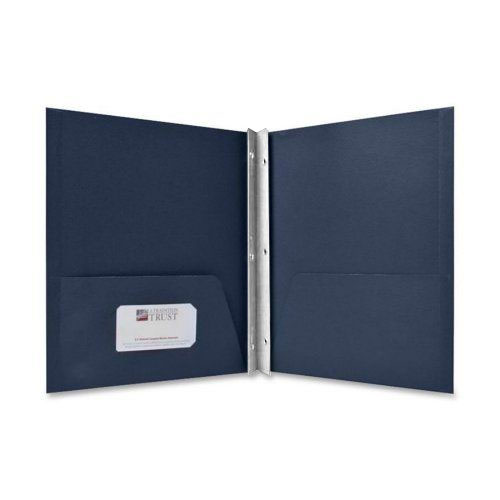 Sparco Dark Blue Two Pocket Report Cover With Fasteners - 25pk (SPR71443) Image 1