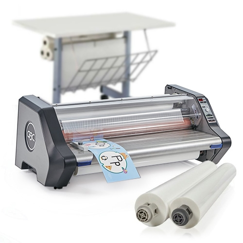 GBC Ultima 65 Deluxe School Laminator Starter Kit with 2 Rolls of Film and Optional Work Station (1710740-K) - $1785.13 Image 1