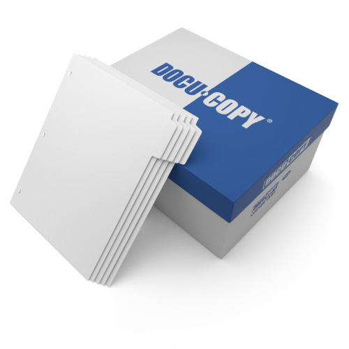 Docucopy Uncollated 1/5th Cut 110lb Plain Paper Copier Tabs 3 Holes - All Pos (HO199832343), Index Tabs Image 1