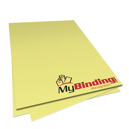 Pastel Yellow 24lb Unpunched Binding Paper - 500 Sheets (PPP24DMYE85X11-11), MyBinding brand Image 1