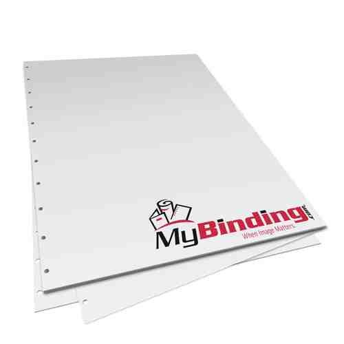 "8.5"" x 11"" 24lb Velobind 11 Hole Pre-Punched Binding Paper - 250 Sheets (MY8.5X11V11HPBP24RM) Image 1"